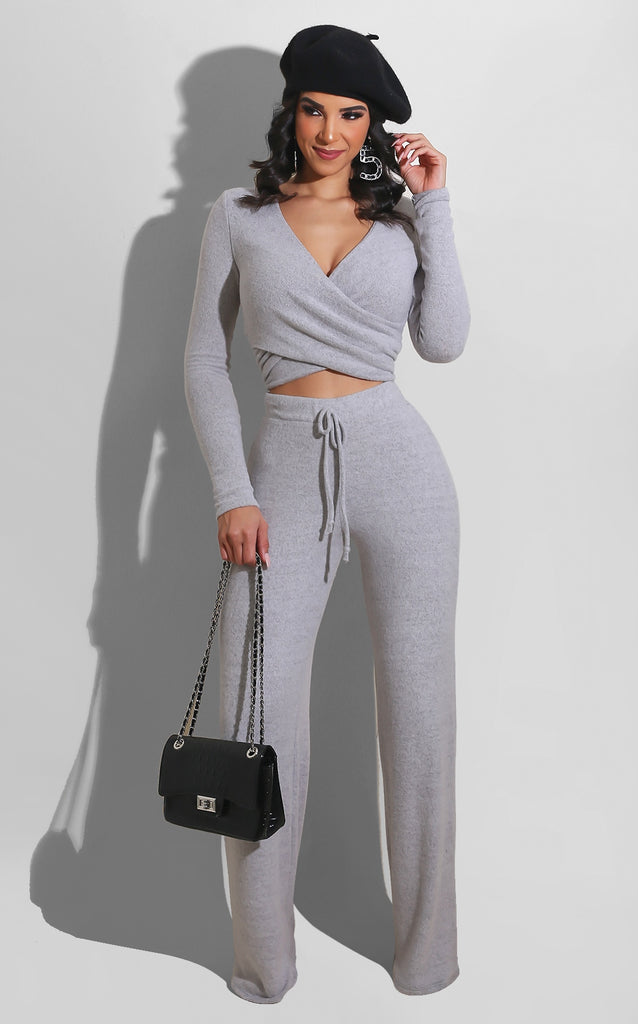Keep Me Warm and Chic Set Grey