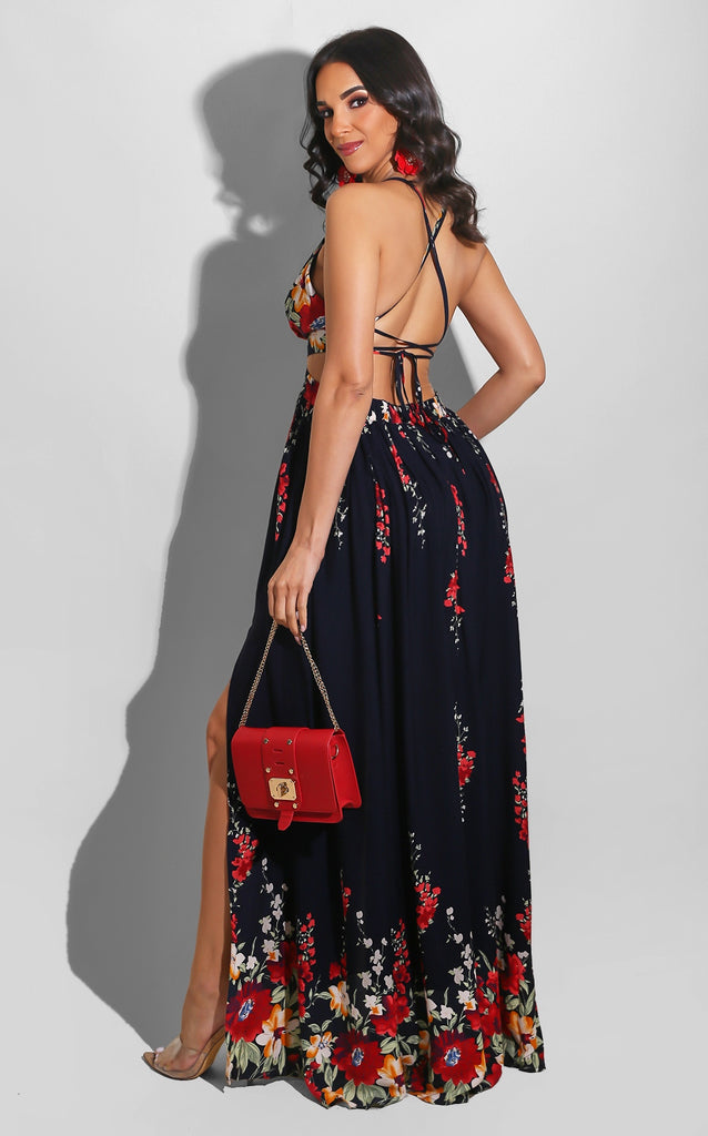 Spring Bloom Maxi Navy