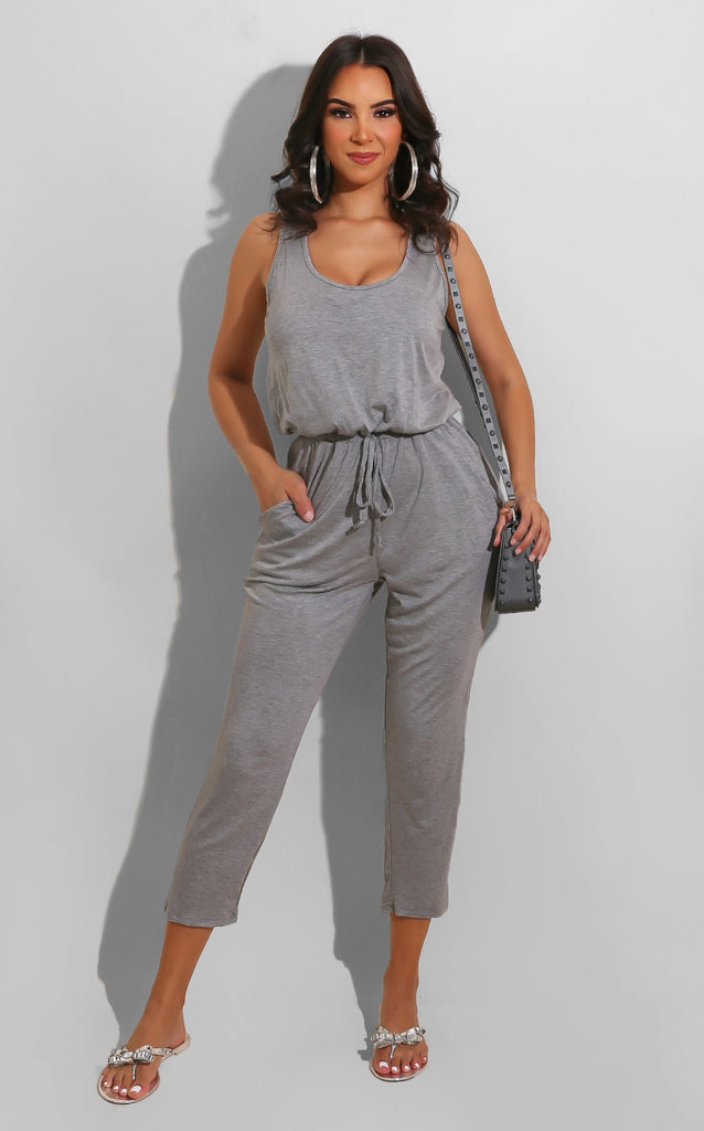 Cozy Runs Jumpsuit Grey