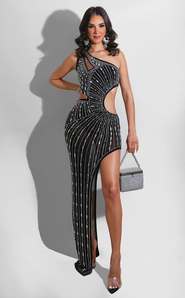 Arrive in Glam Gown Black