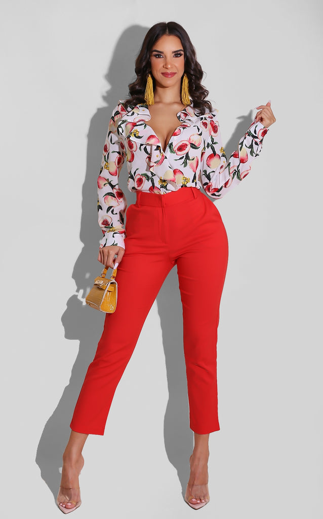 Red Winter Trouser