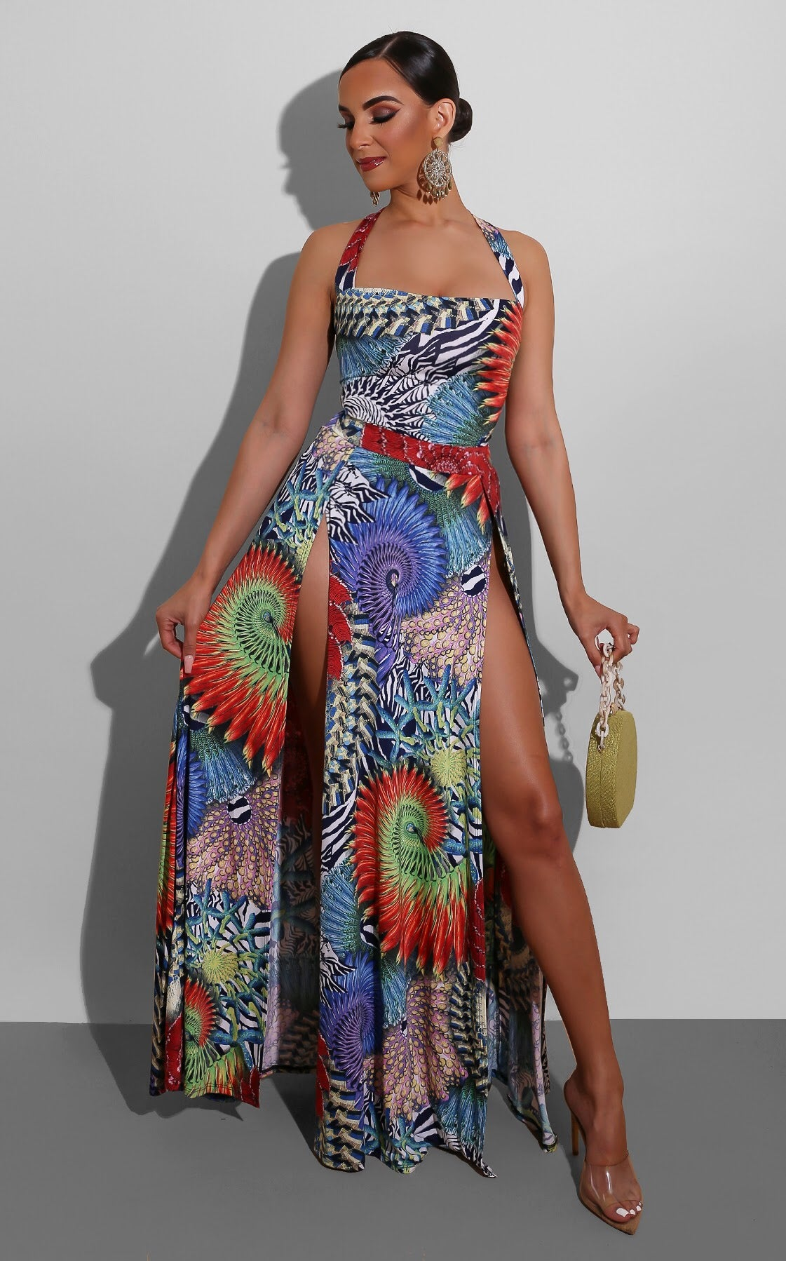 Exotic Blend High Slit Maxi