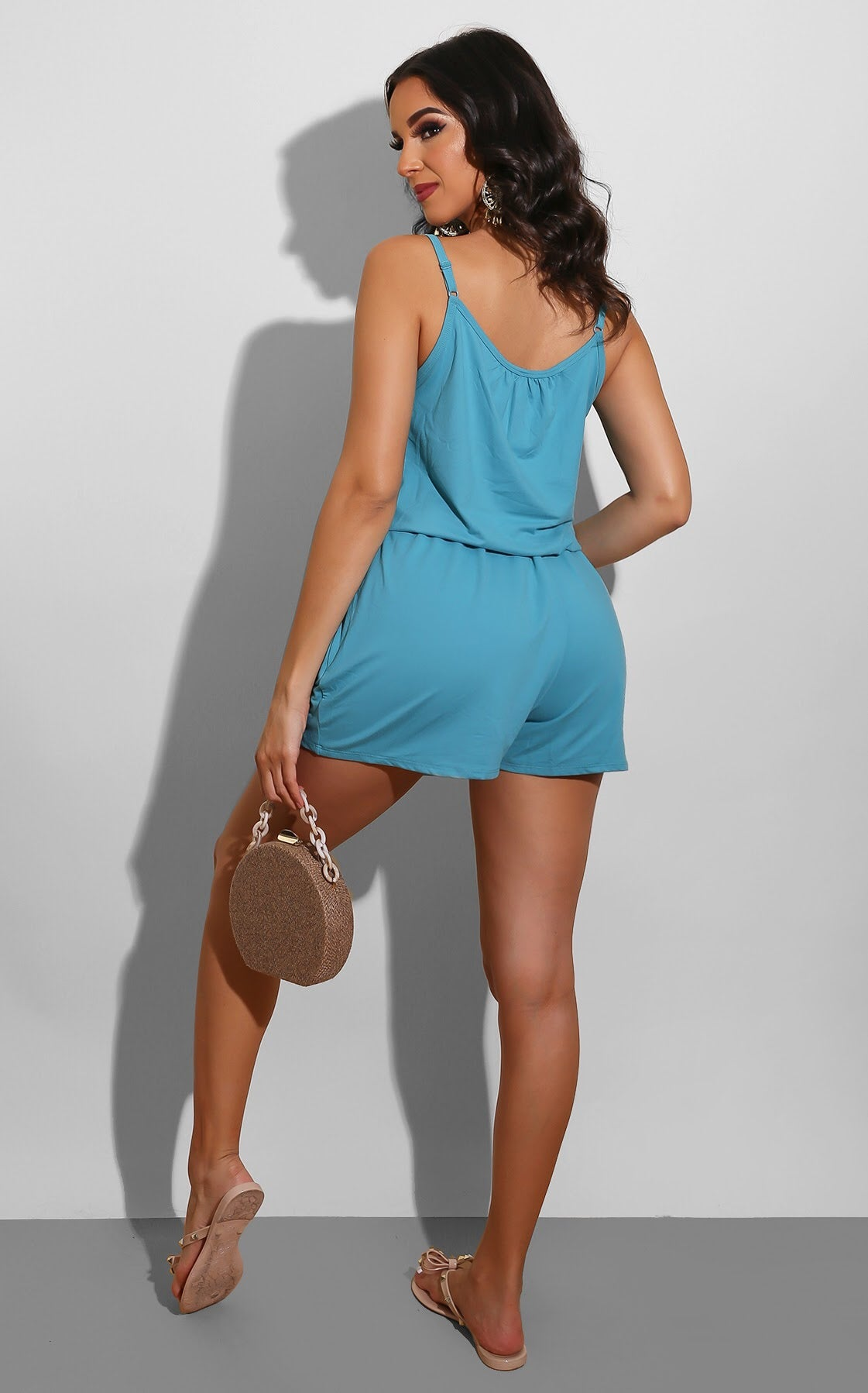 Easy To Wear Romper Teal