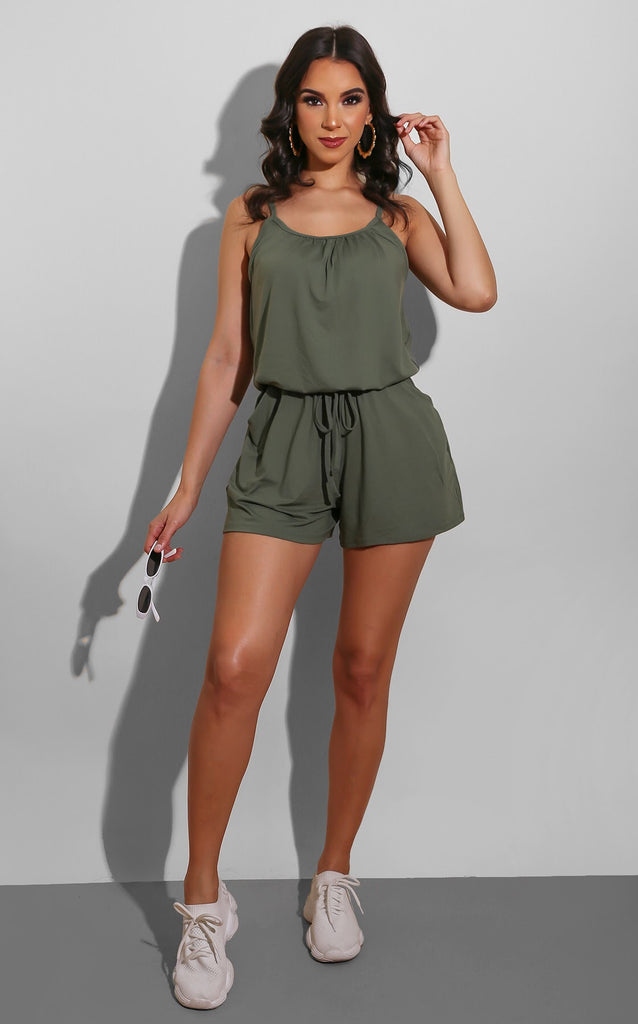 Easy To Wear Romper Olive