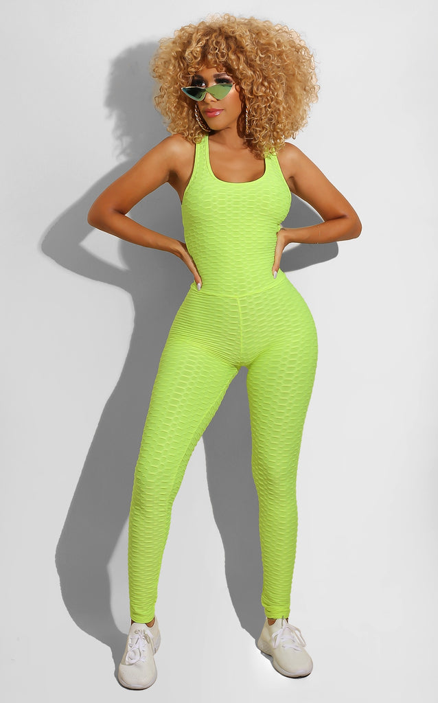 Gym Catsuit Neon Green
