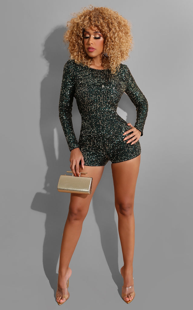 Pretty Perfect Romper Green