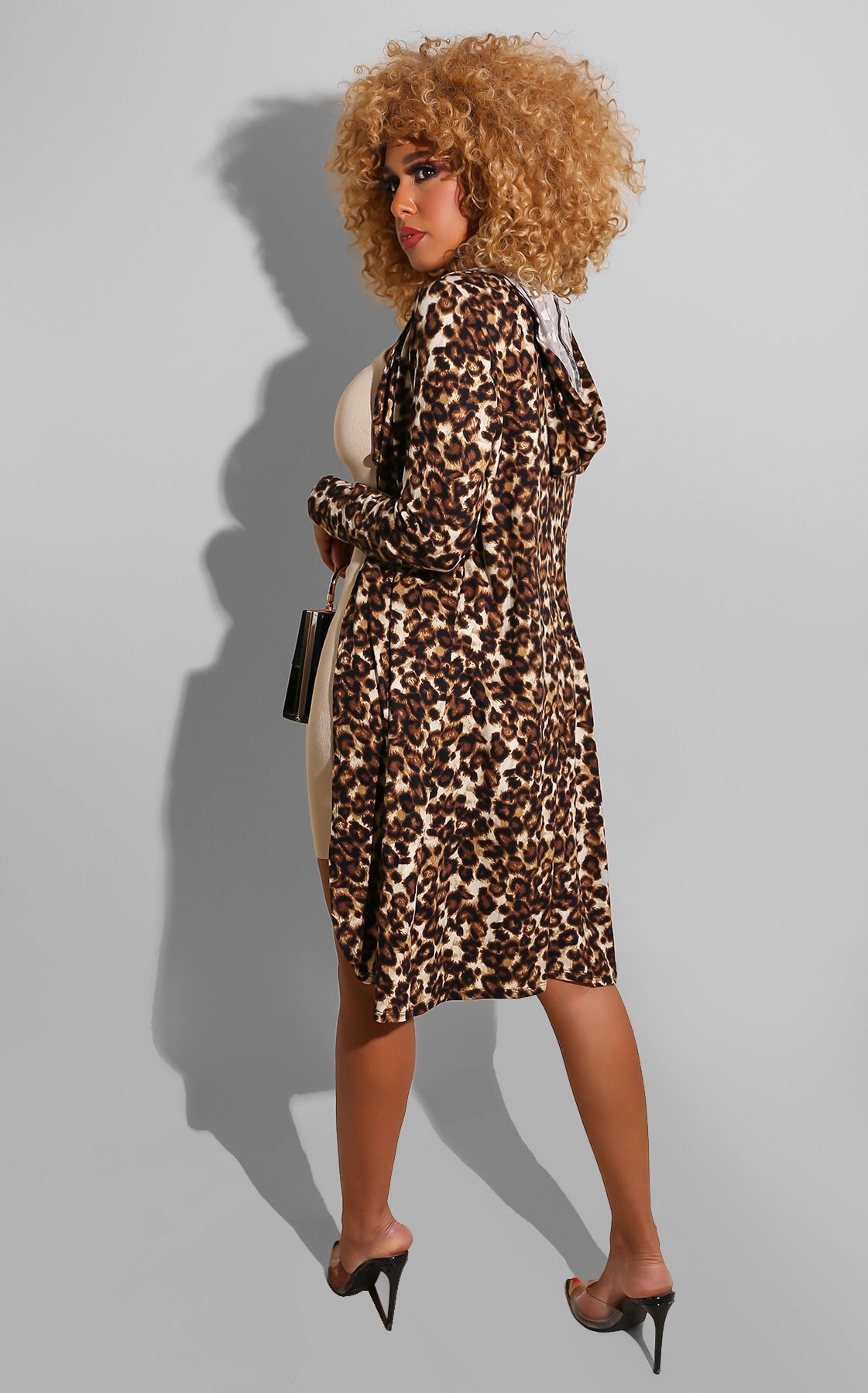 Leopard Throw On Cardigan