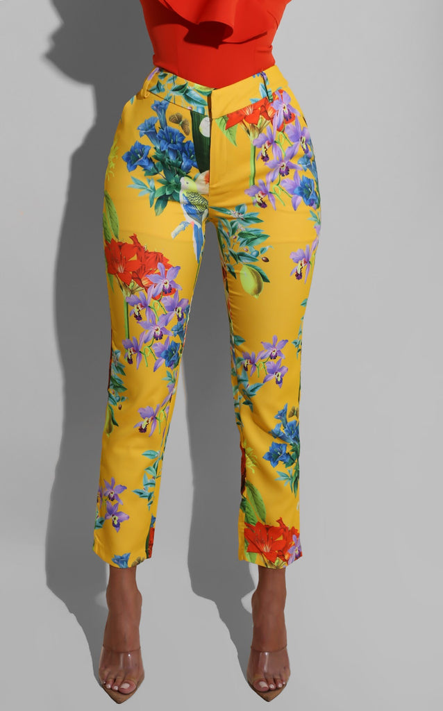 Spring Bloom Trouser Yellow