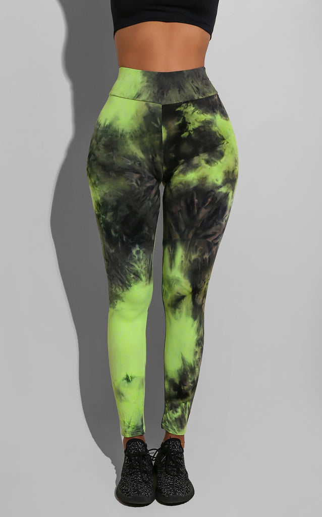 Tie Dye Gym Weekday Leggings Green