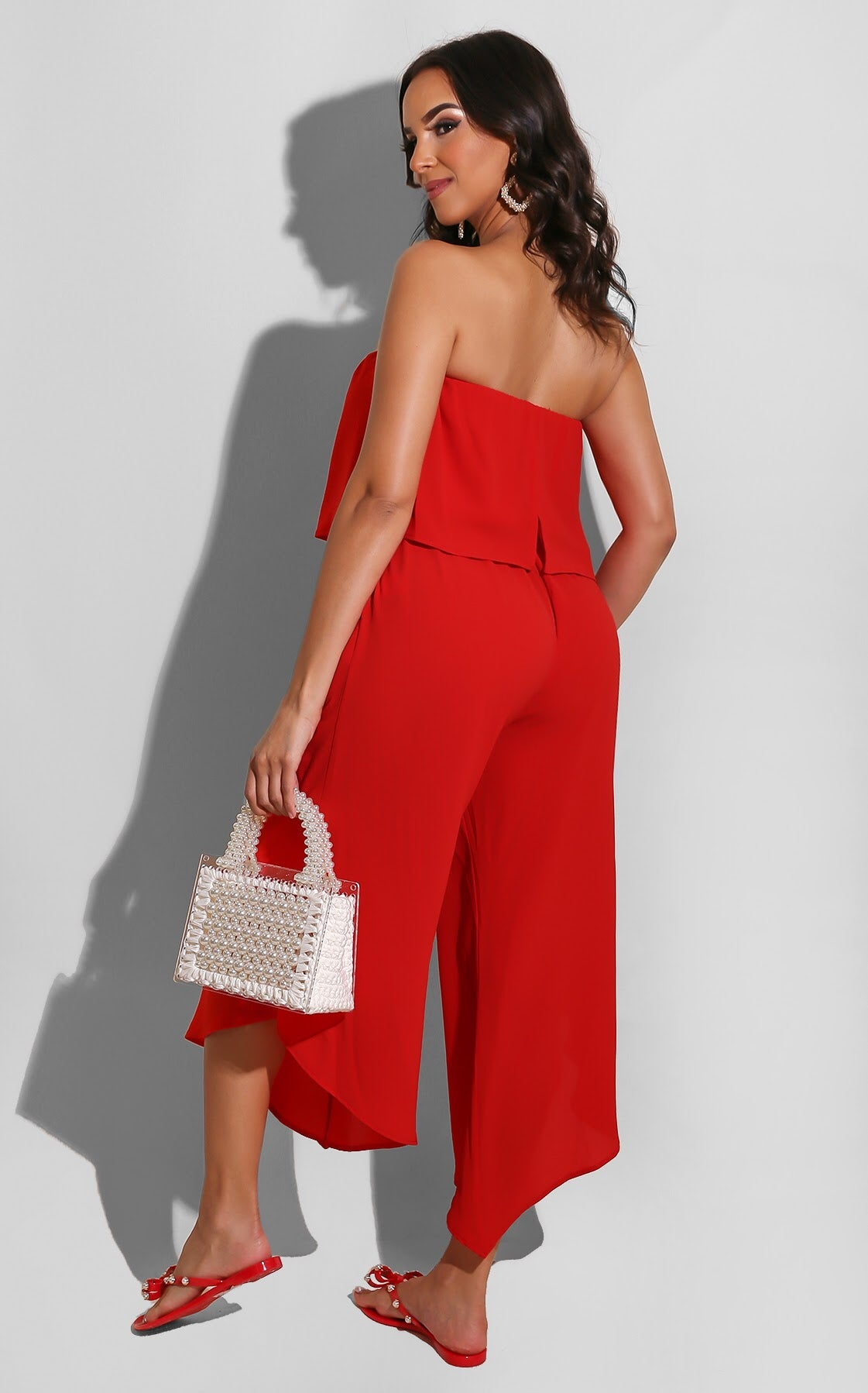 My Pleasure Jumpsuit Red
