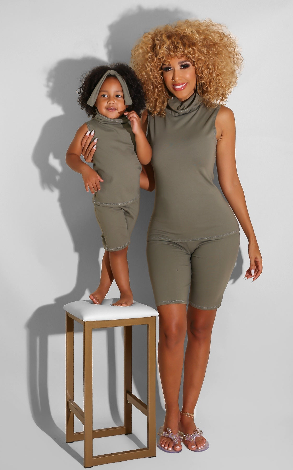 Deliano Olive Short Set