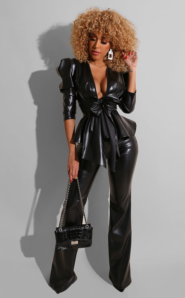 Dominatrix Pant Set Black