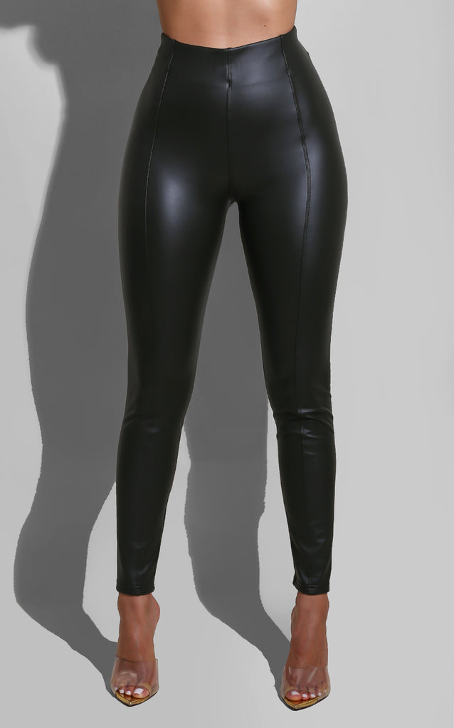 Liquid Pleather Leggings Olive