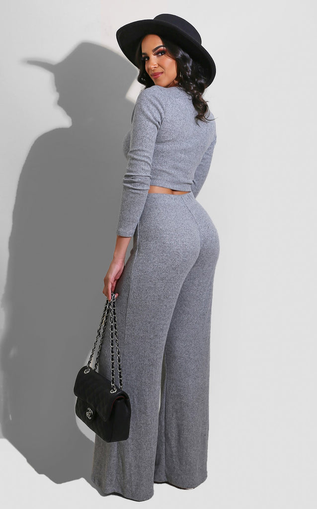 Anya Drawstring Set Grey