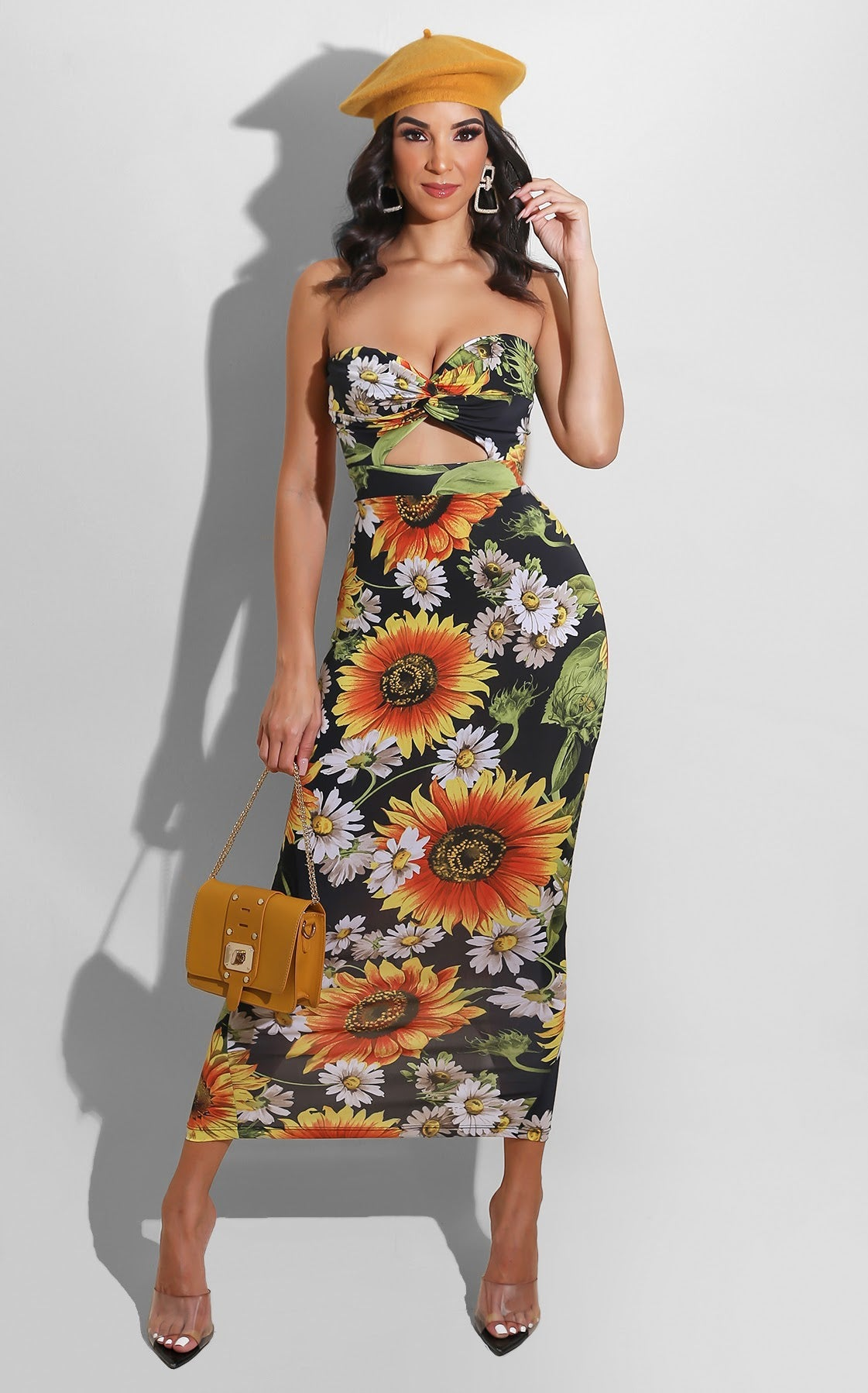 Like A Flower Midi Black
