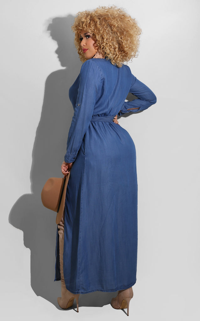 Fall Denim Maxi
