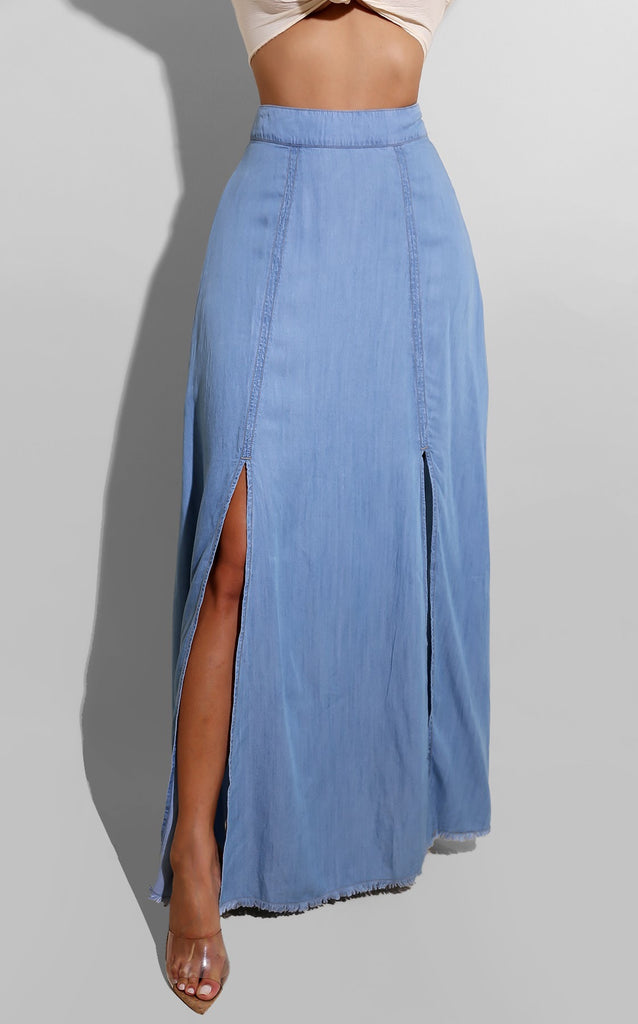 Brunch Date Denim Skirt