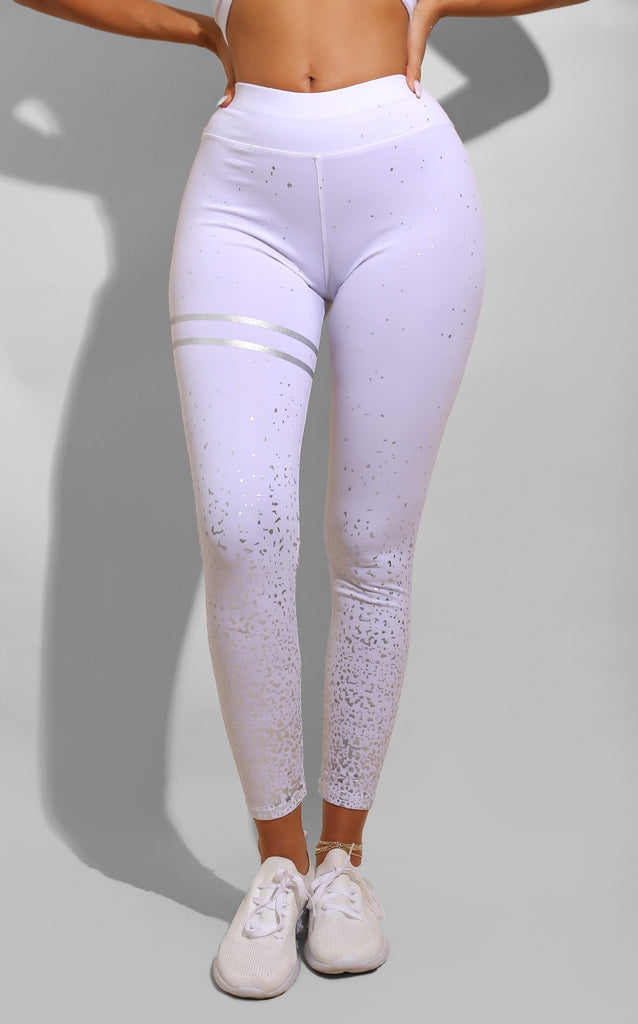 Confetti Gym Leggings White