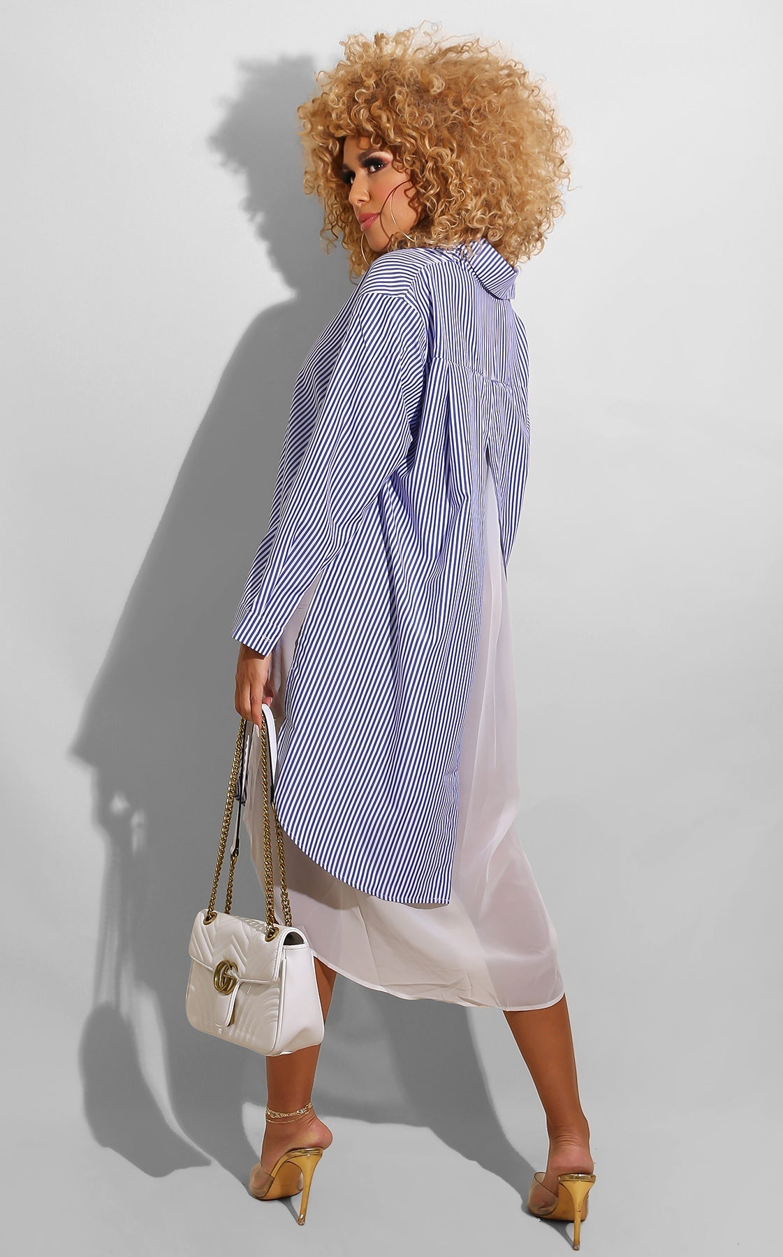 Stripe B/F Shirt Dress