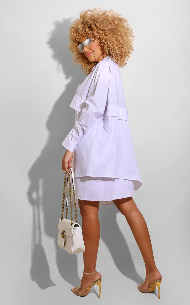 B/F Shirt Tunic White