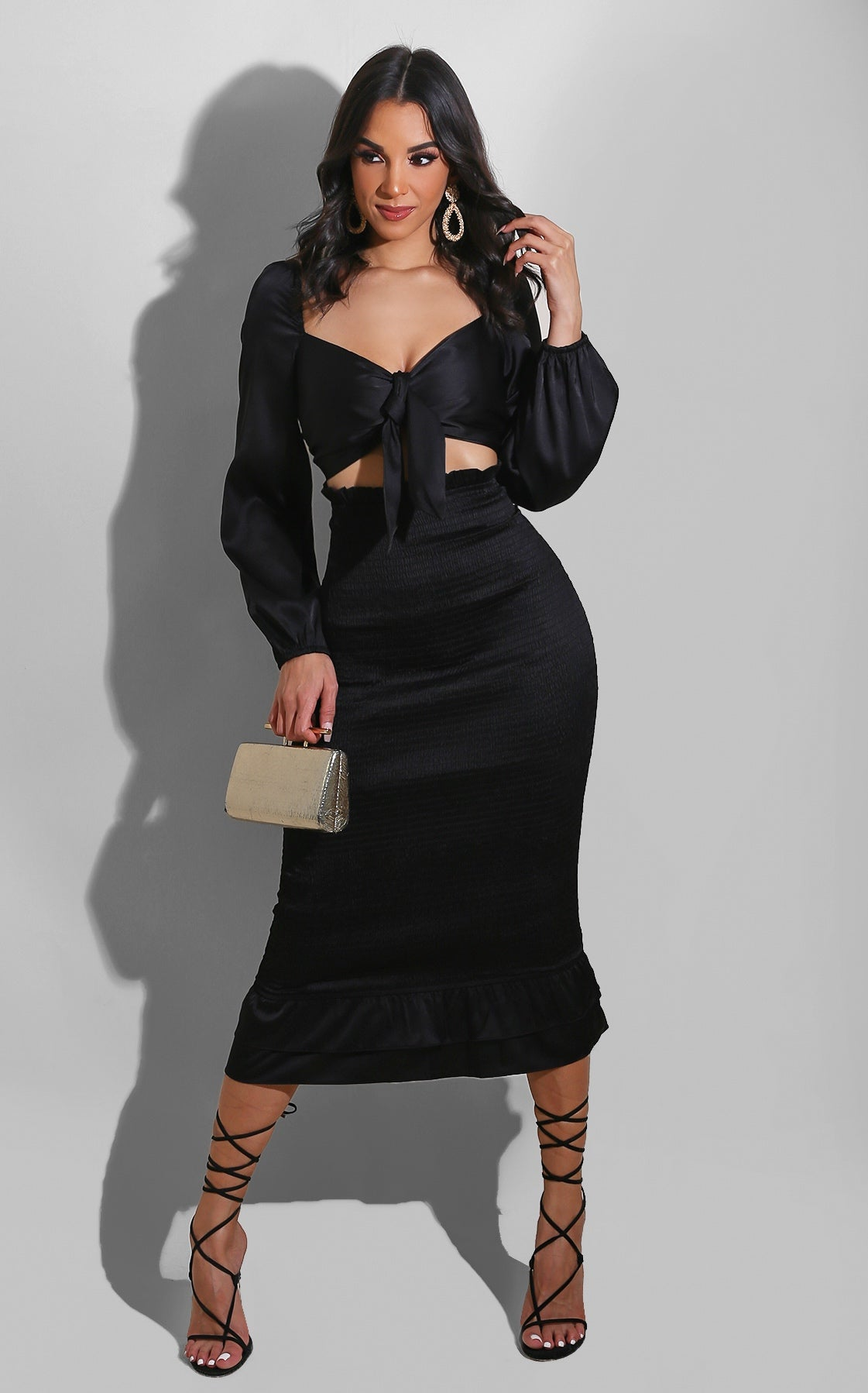 The Lady Is In Midi Black