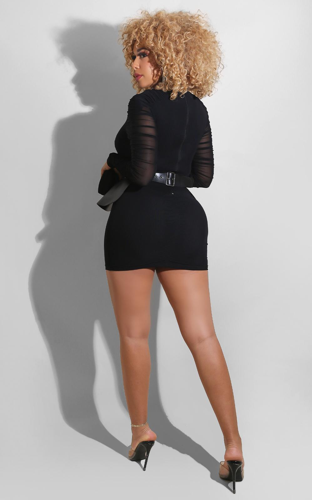Onyx Leather Peplum Mini