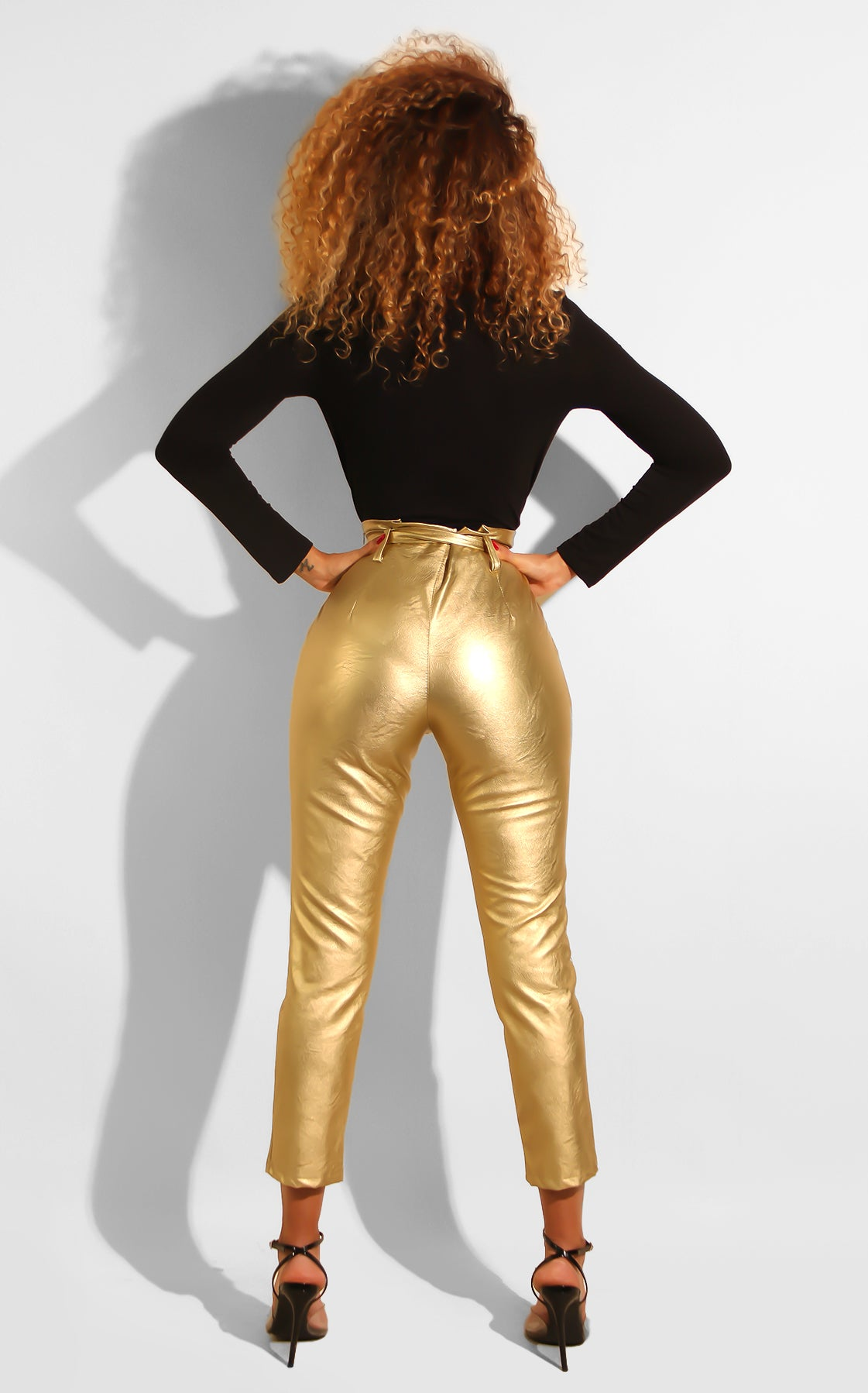 Metallic Bow Trouser