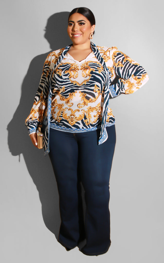 Curvy Top Priority Blouse