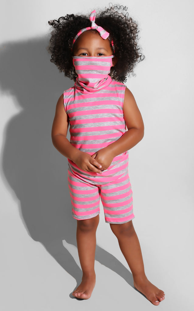 Mini Me Mask Neon Set Pink