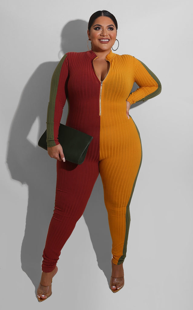 Curvy Multi Side Jumpsuit