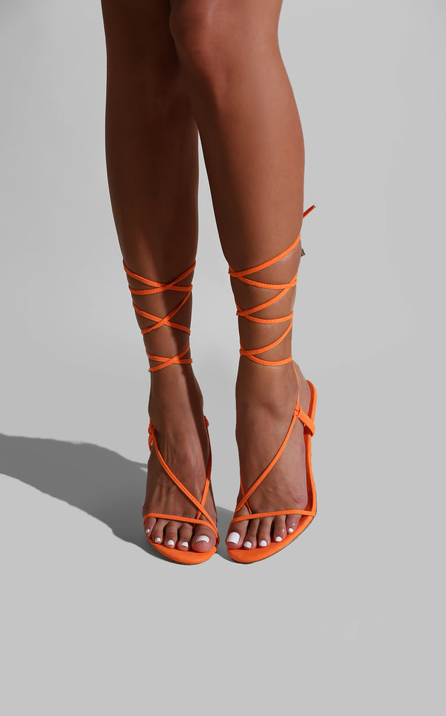 Strap Success Heels Orange
