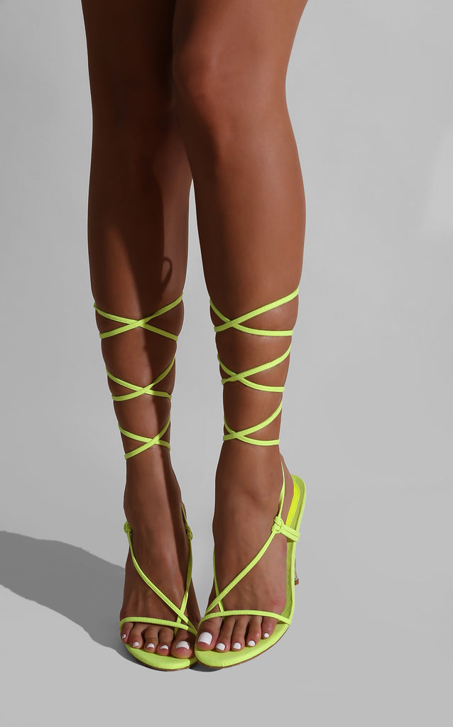 Strap Success Heels Neon Green