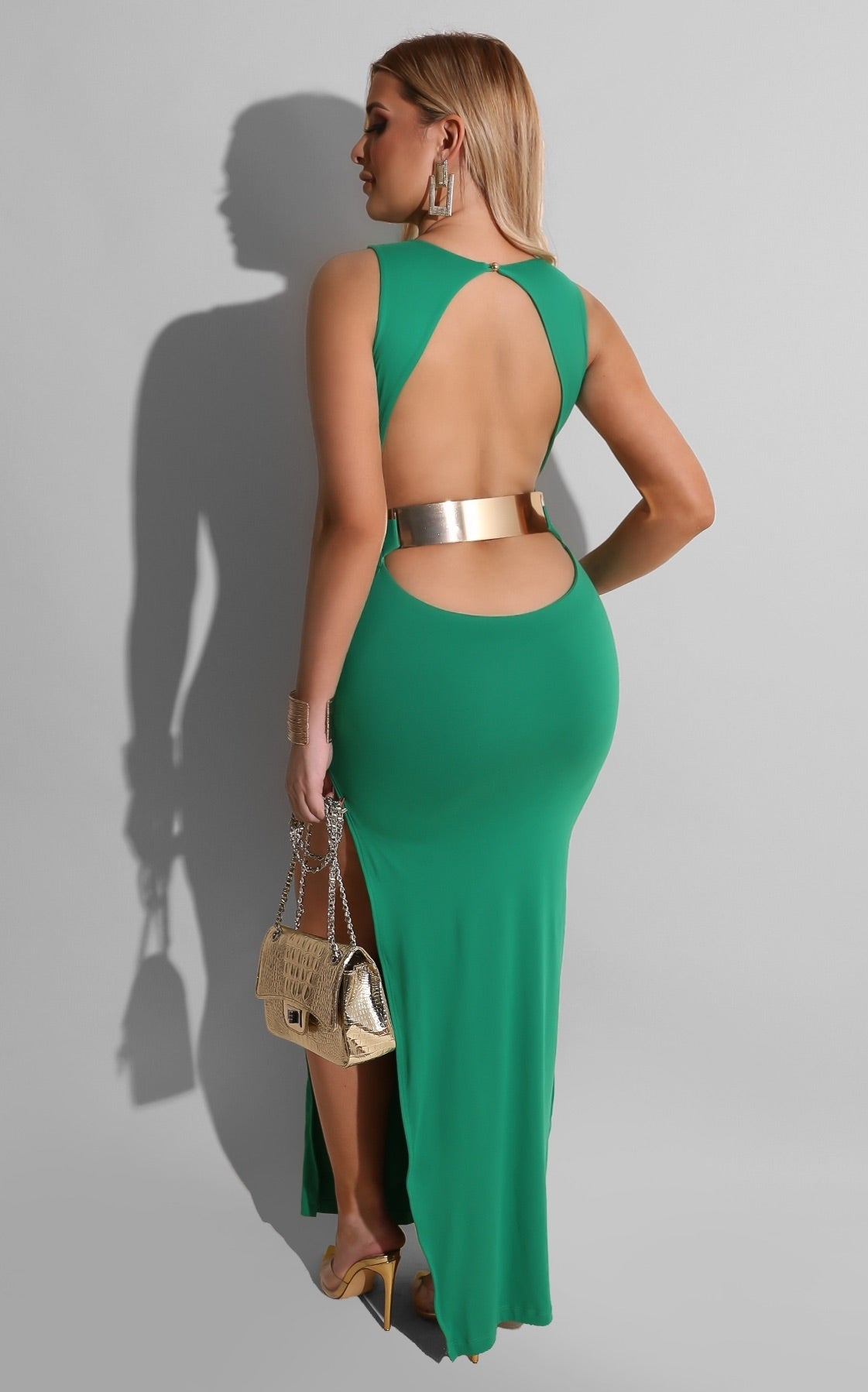 Gold Plate Chic Midi Green