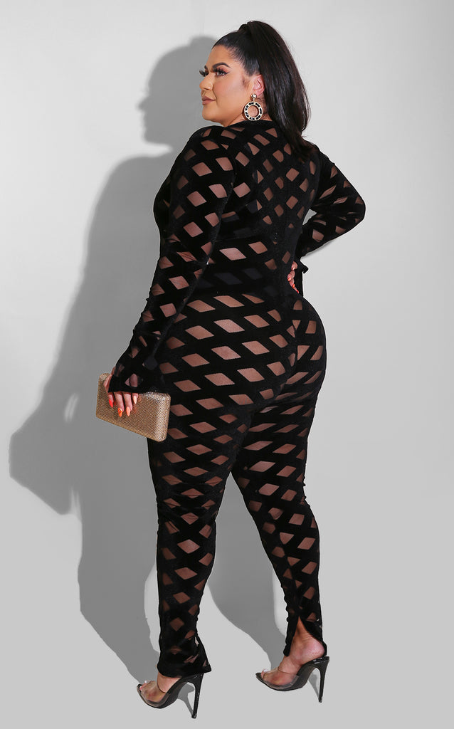 Curvy Cat Woman Jumpsuit