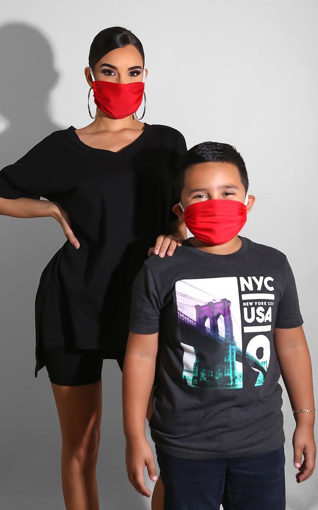 Mini Me Red Unisex Face Mask