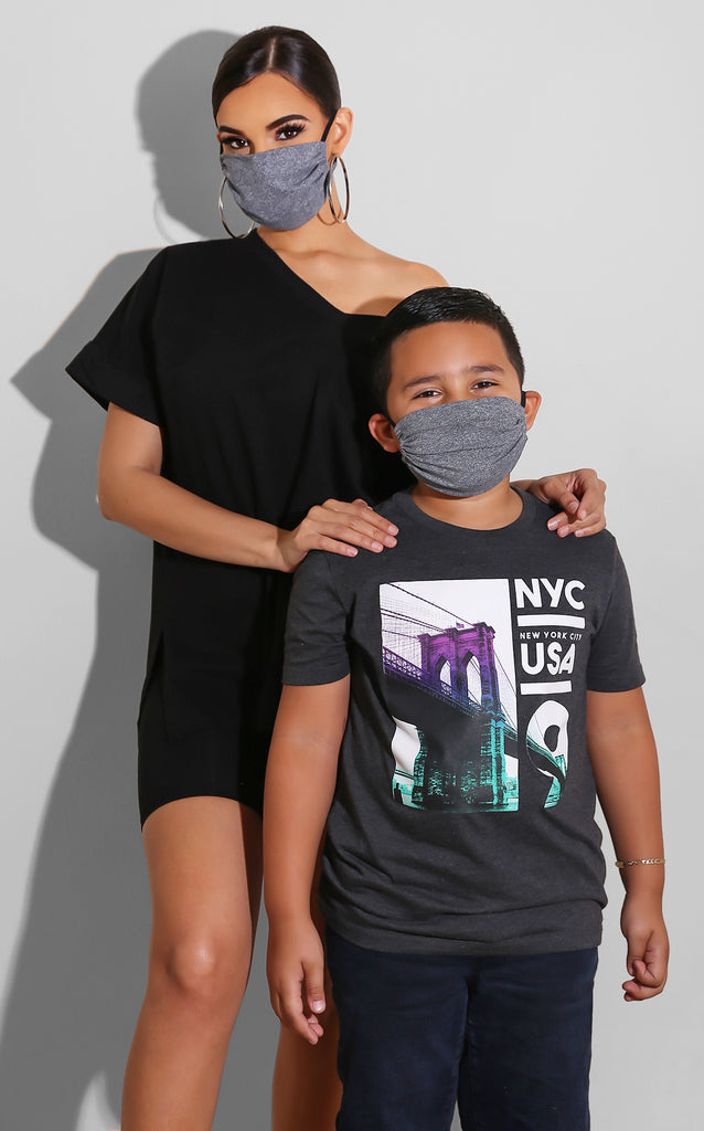 Mini Me Grey Unisex Face Mask