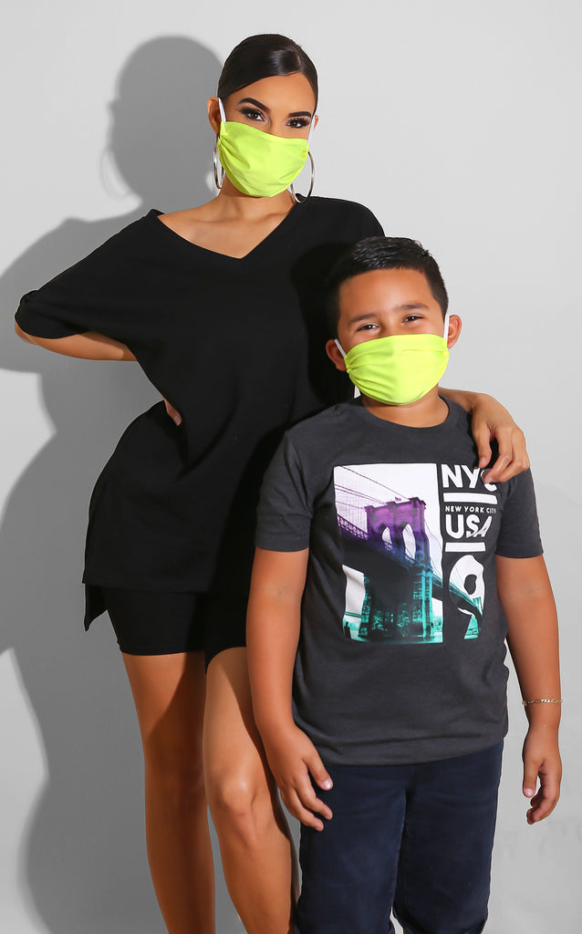 Neon Green Face Mask