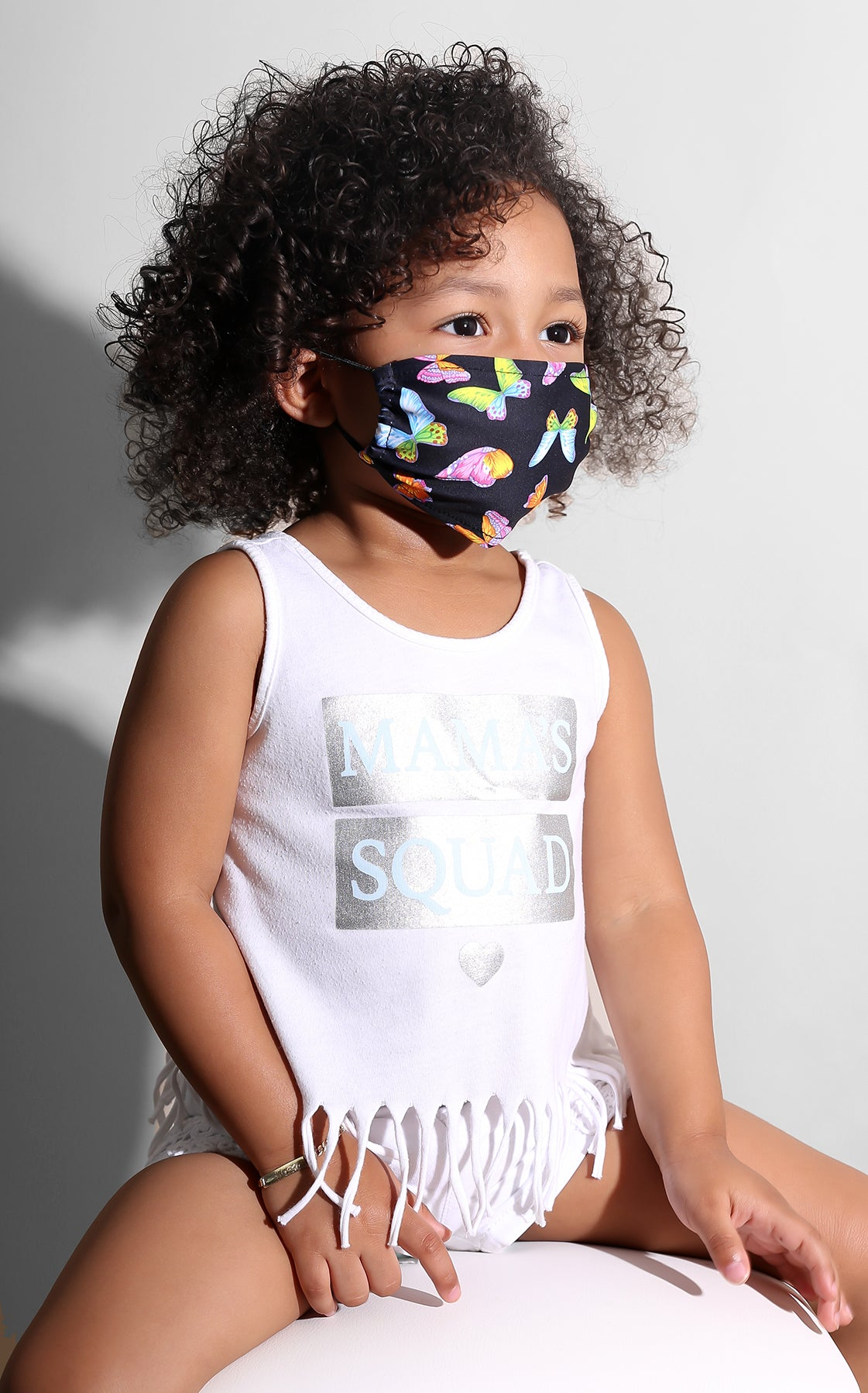 Mini Me Butterfly Face Mask Black