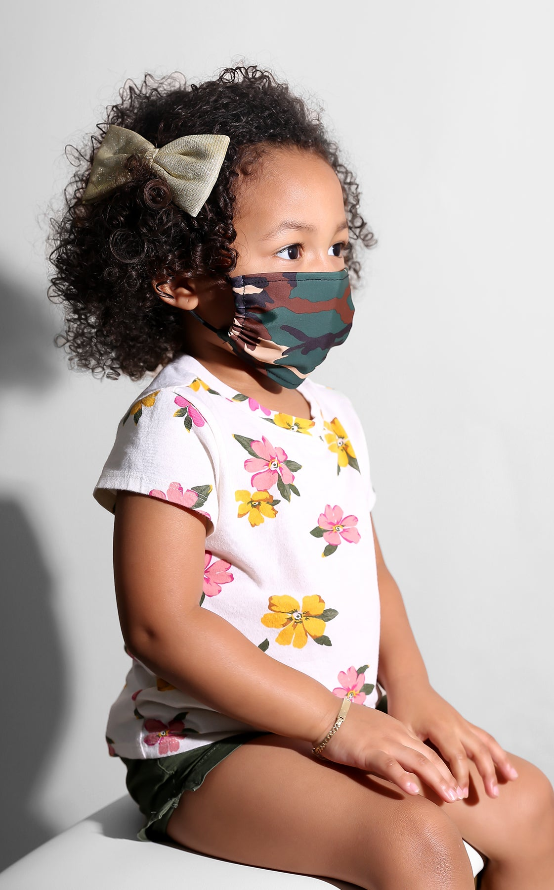 Mini Me Camo Print Face Mask