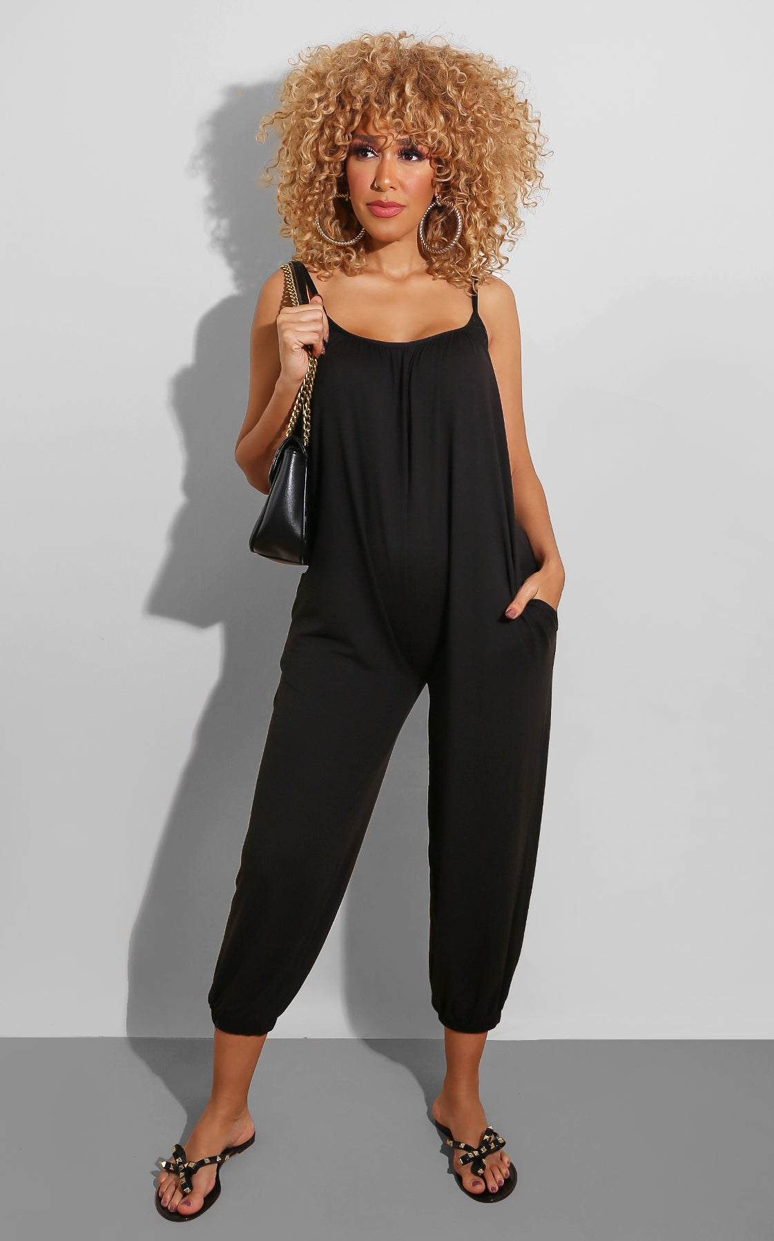 Chill All Day Jumpsuit Black