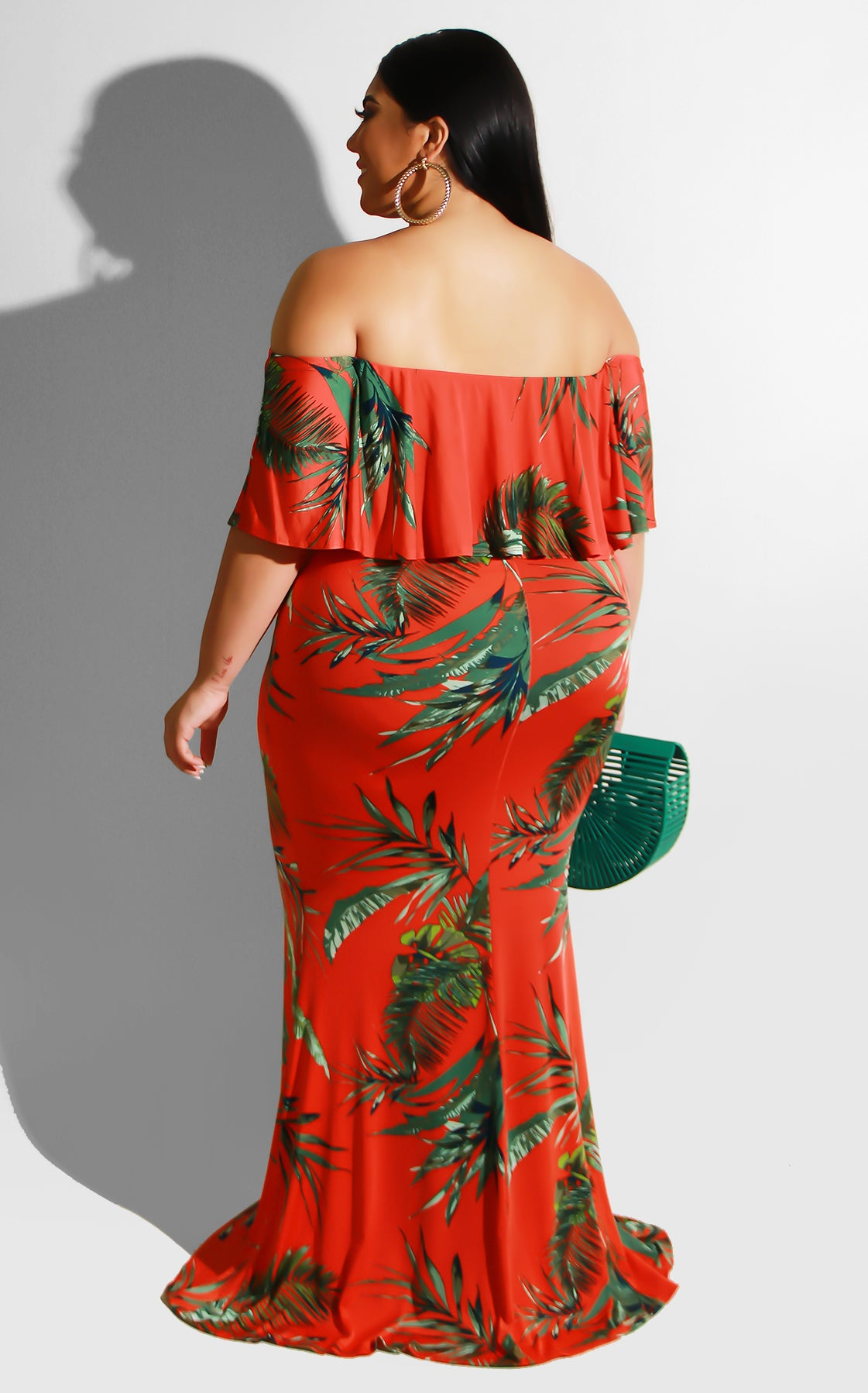 Curvy Curacao Maxi Dress