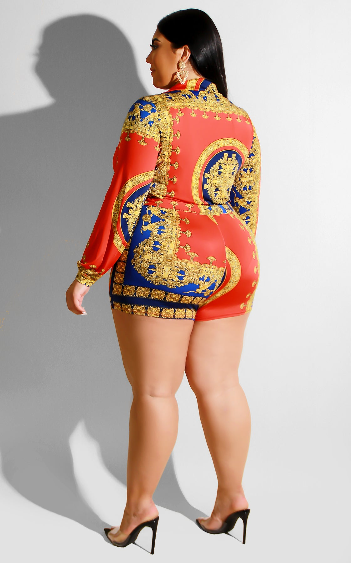 Curvy Take A Risk Romper