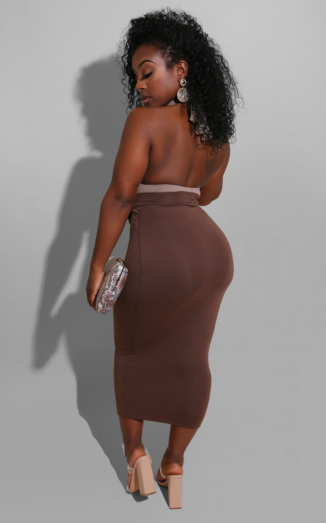 Deliano Brown Skirt