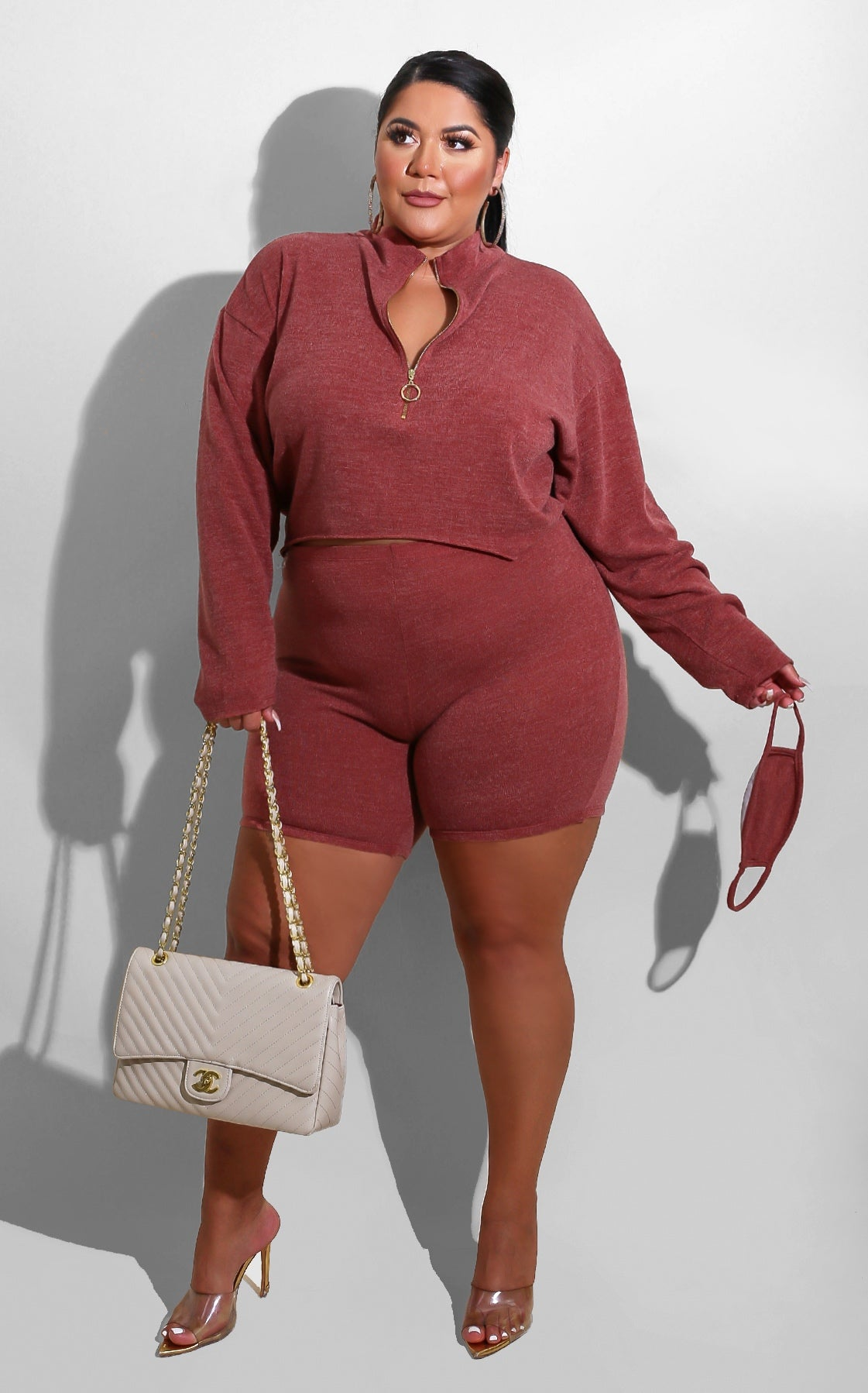Curvy Real Life Set Burgundy
