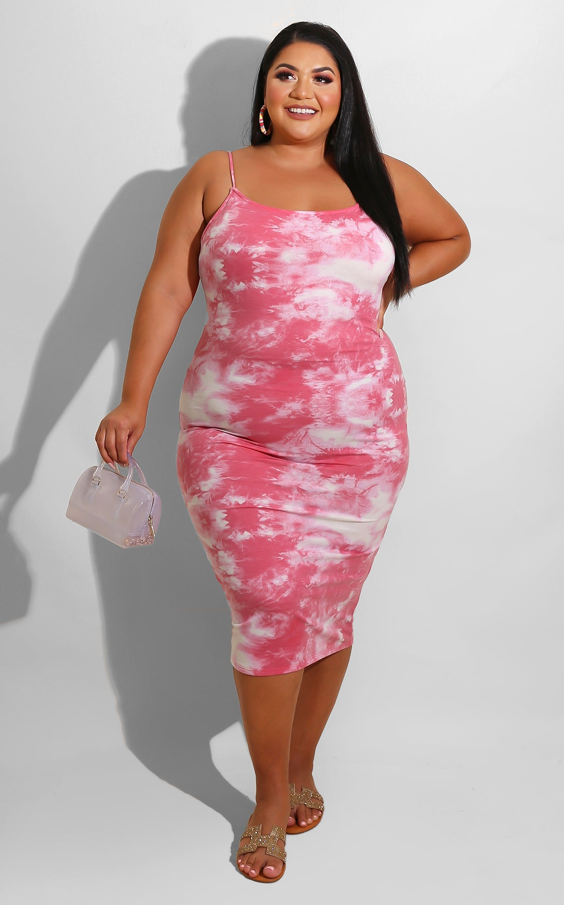 Curvy Summer Bliss Midi pink