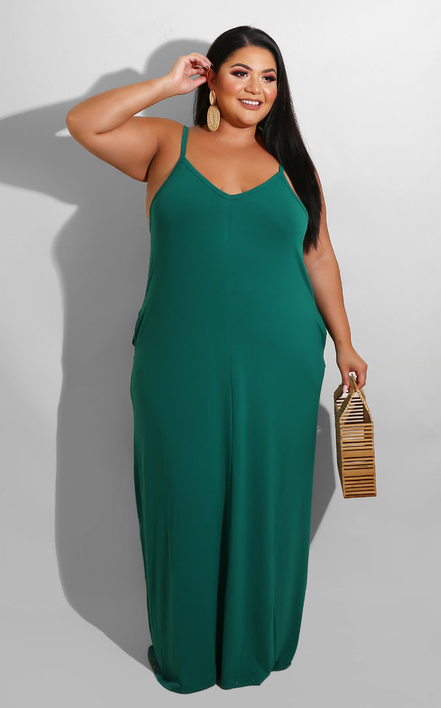 Curvy Invite Only Maxi Green