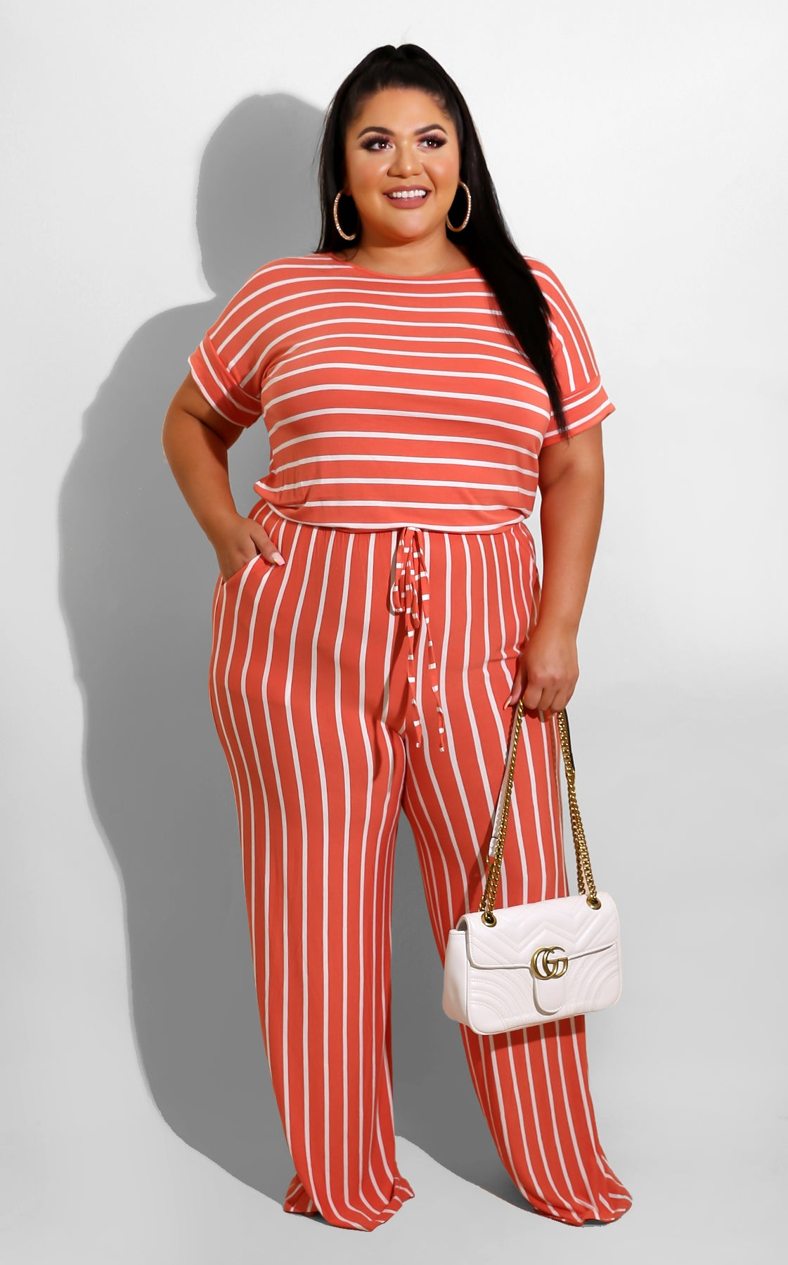 Curvy Days like today Jumpsuit Coral