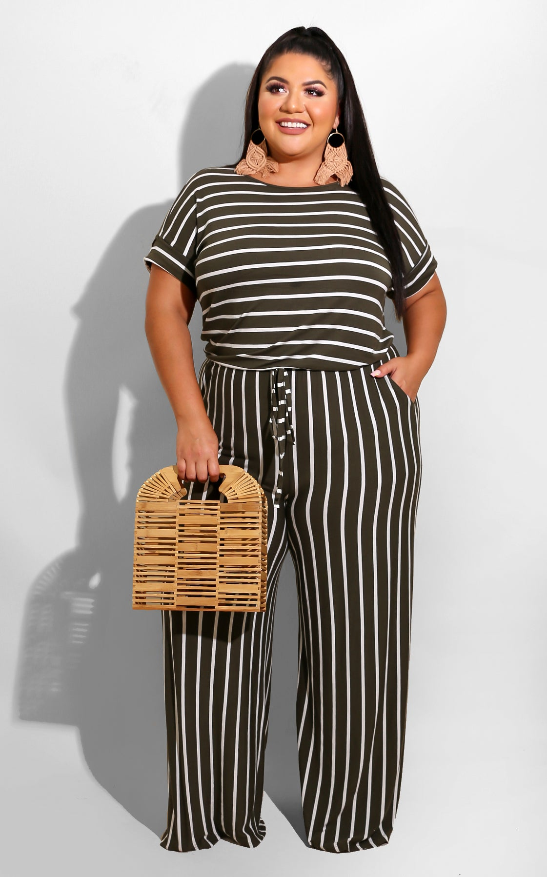 Curvy Days like today Jumpsuit olive