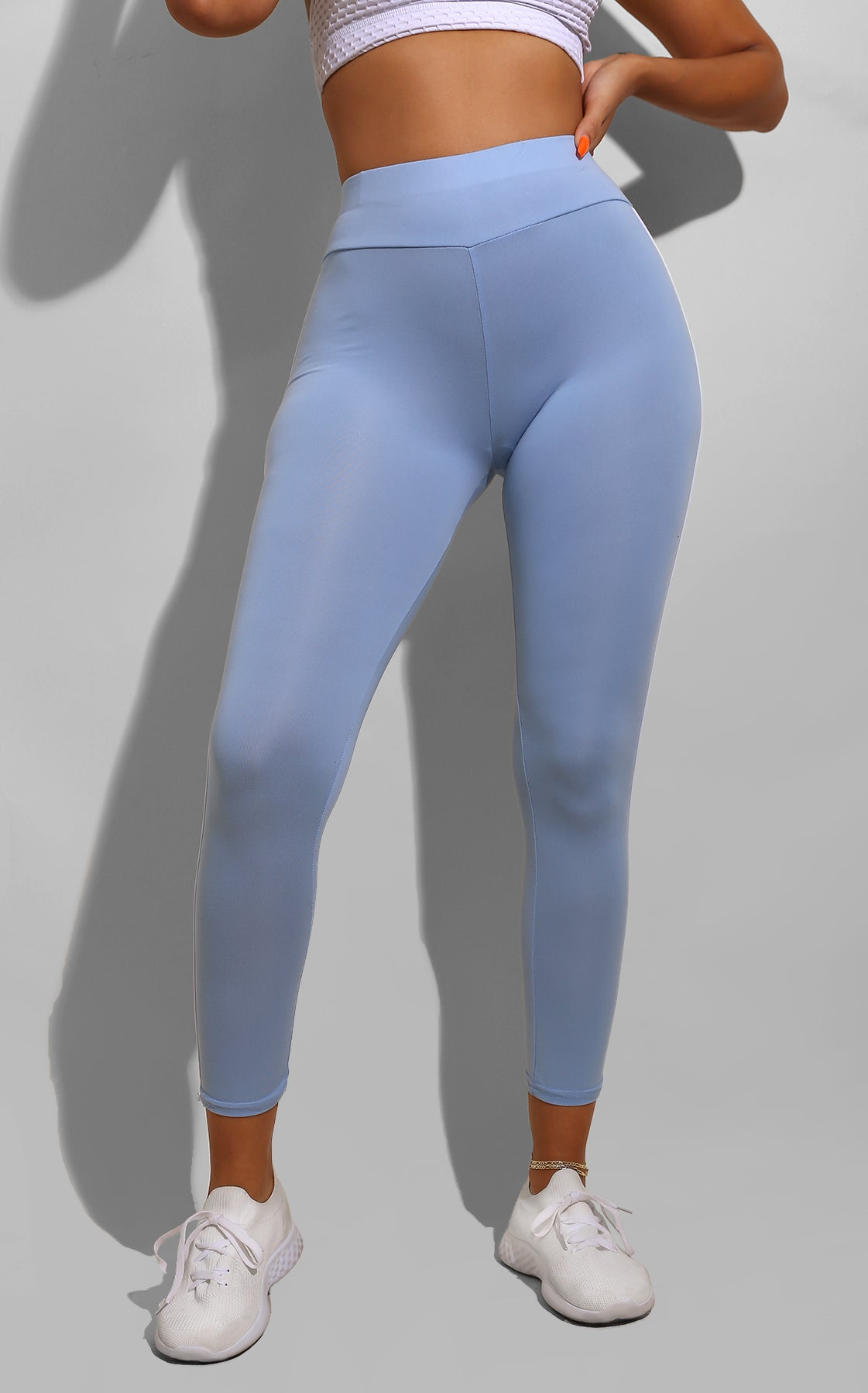 Side Line Track Pants Baby Blue