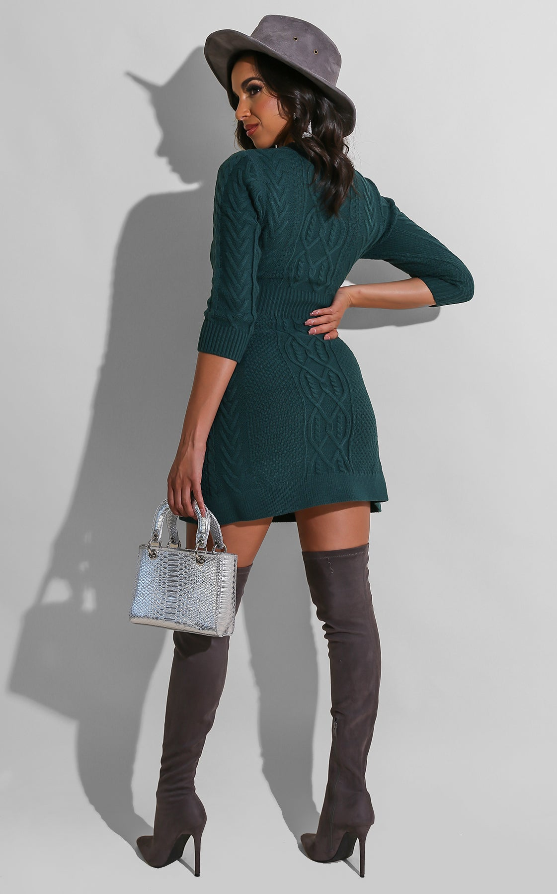 Sweet Doll Sweater Dress Teal